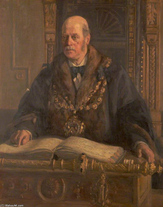 Alfred Waddington, Mayor Of Oldham by Frederick William Jackson (1843-1942, United States)
