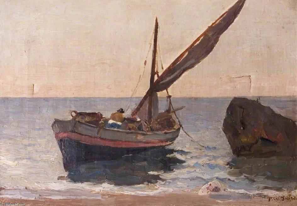 Boats On The Shore by Frederick William Jackson (1859-1918, United Kingdom)