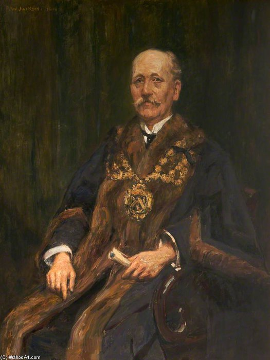 Herbert Wilde, Mayor Of Oldham by Frederick William Jackson (1859-1918, United Kingdom)