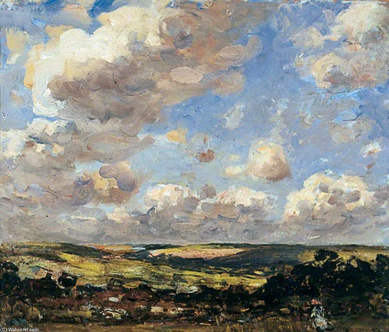 Hinderwell, North Yorkshire, A Breezy Day by Frederick William Jackson (1843-1942, United States)