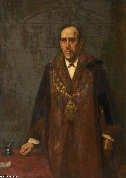 Brierley, Mayor Of Oldham by Frederick William Jackson (1843-1942, United States)