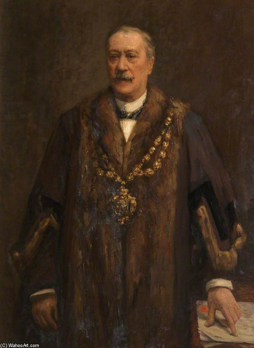 James Yates, Mayor Of Oldham by Frederick William Jackson (1843-1942, United States)
