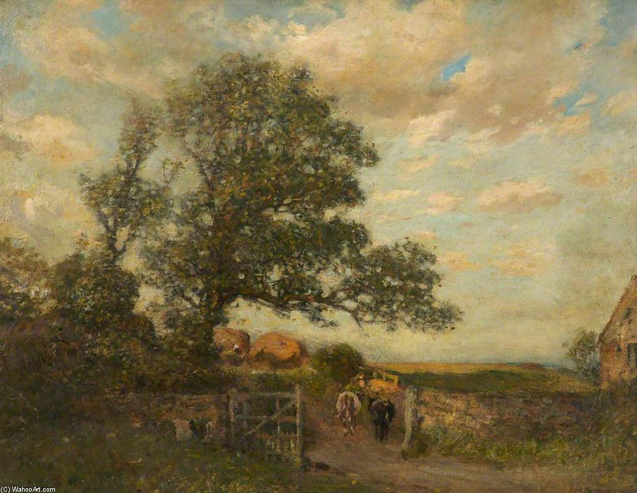 Landscape, Farm Scene by Frederick William Jackson (1859-1918, United Kingdom)