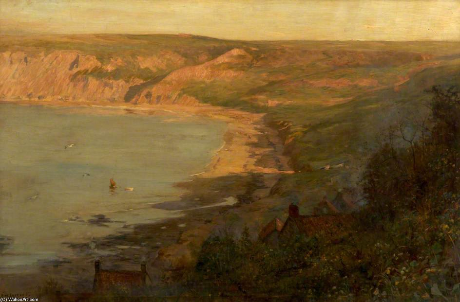 Runswick Bay, North Yorkshire by Frederick William Jackson (1843-1942, United States) | Museum Art Reproductions | ArtsDot.com