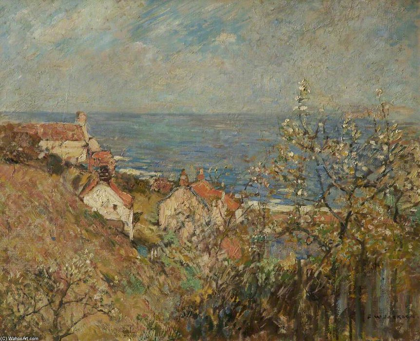 Runswick Bay by Frederick William Jackson (1859-1918, United Kingdom)