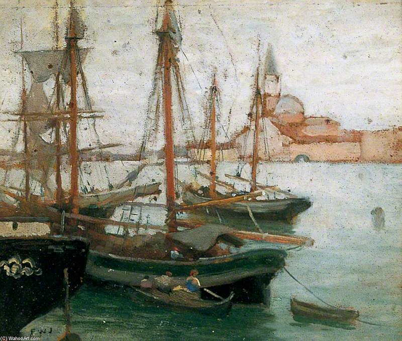 Ships In Venice by Frederick William Jackson (1843-1942, United States)
