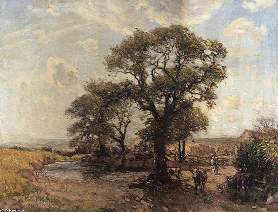 The Farm Pond by Frederick William Jackson (1859-1918, United Kingdom)