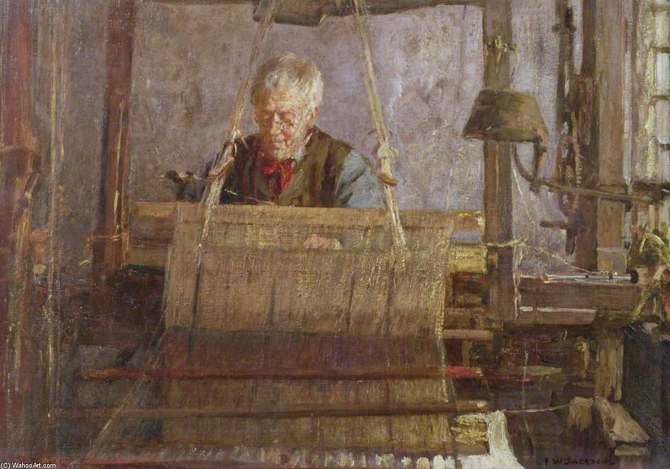The Last Of The Hand Loom Weavers by Frederick William Jackson (1859-1918, United Kingdom)
