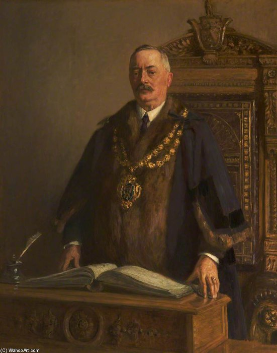 Thomas Bolton, Mayor Of Oldham by Frederick William Jackson (1859-1918, United Kingdom)