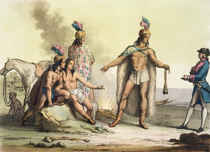 Indians Of Patagonia by Gallo Gallina (1796-1874, Italy)