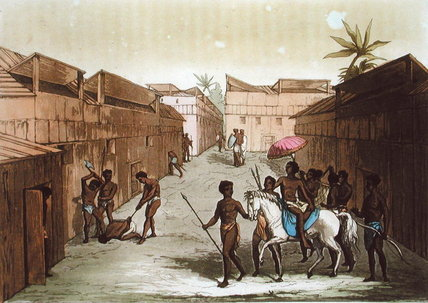 Method Of Punishment In Benin by Gallo Gallina (1796-1874, Italy) | ArtsDot.com