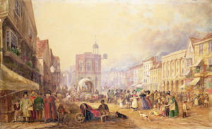 George Shepherd - Maidstone High Street From Gabriel-s Hill,