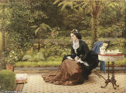 Five O`clock by George Dunlop Leslie (1835-1921, United Kingdom) | Art Reproduction | ArtsDot.com