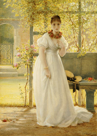 In The Walled Garden - by George Dunlop Leslie (1835-1921, United Kingdom)