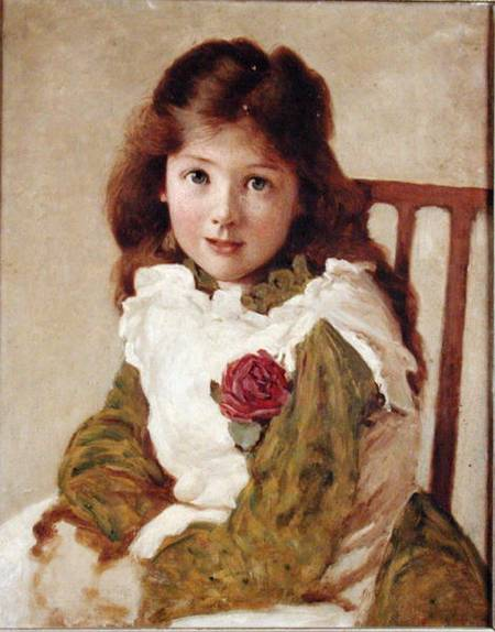 Portrait Of The Artist's Daughter by George Dunlop Leslie (1835-1921, United Kingdom)