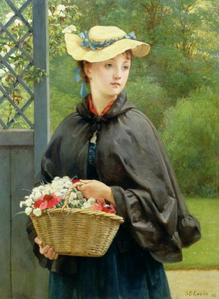 The Gardener's Daughter by George Dunlop Leslie (1835-1921, United Kingdom)