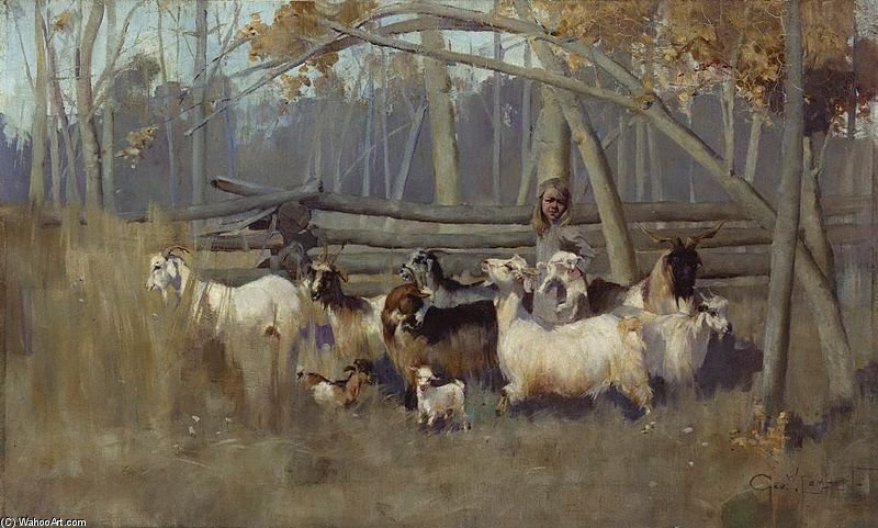 A Bush Idyll by George Lambert (1873-1930, Russia)