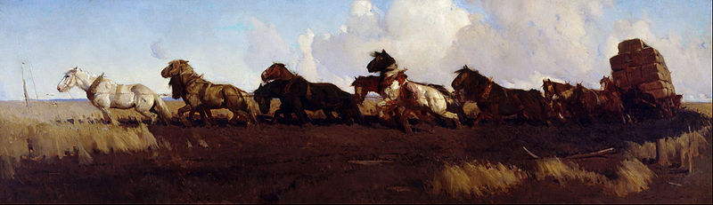 Across The Black Soil Plains - by George Lambert (1873-1930, Russia)
