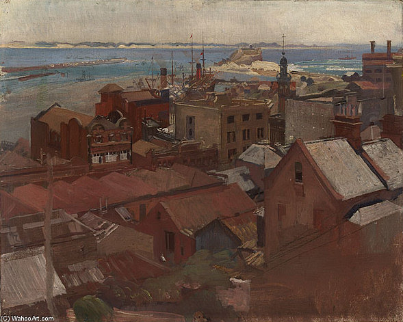 Newcastle by George Lambert (1873-1930, Russia)