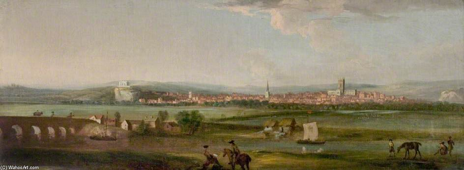 Nottingham From The South by George Lambert (1873-1930, Russia)