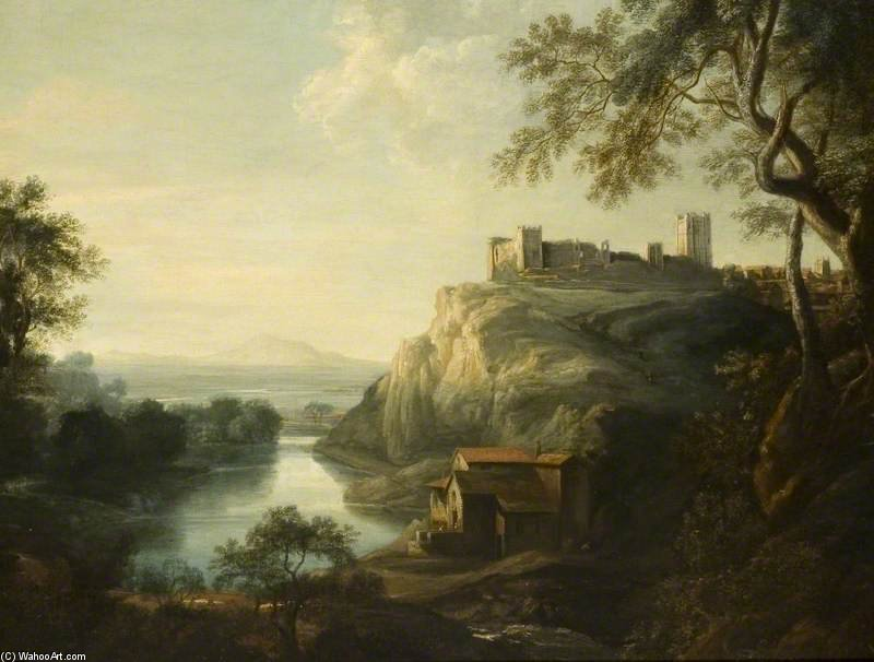 Richmond Castle, Yorkshire by George Lambert (1873-1930, Russia)