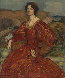 George Lambert - Sybil Waller In A Red And..