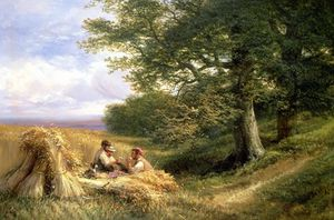 George Vicat Cole - The Harvesters