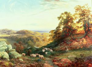 George Vicat Cole - Watching The Flock