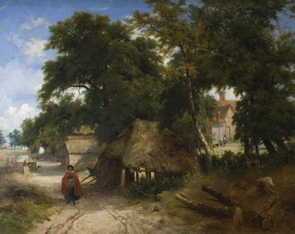 An English Farmstead by George Vincent (1796-1831, United Kingdom)