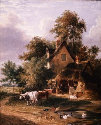 Farmyard Scene by George Vincent (1796-1831, United Kingdom)