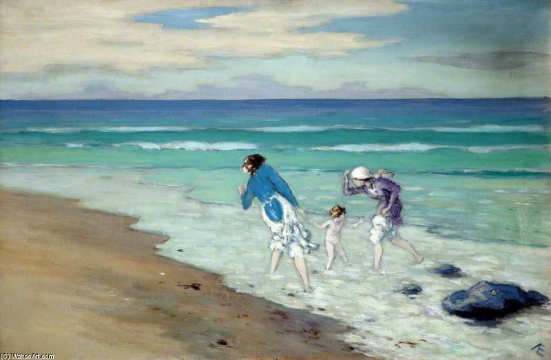 On The Beach by George William Russell (1867-1935, Ireland)
