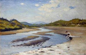 George William Russell - River In The Sand