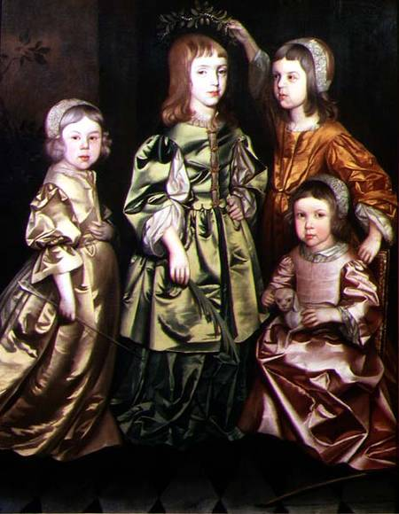 Group Portrait Of Four Children by Gerard Soest (1600-1681, Germany)