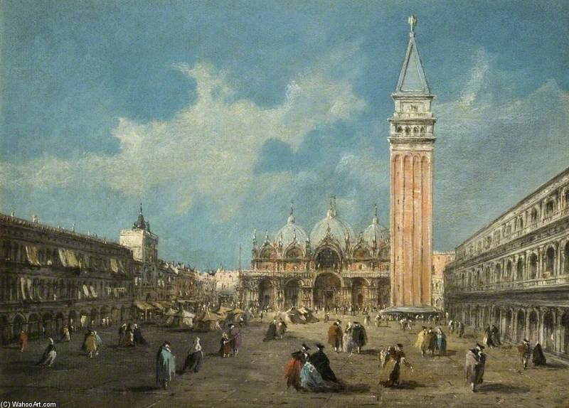 Piazza San Marco, Venice, Italy by Giacomo Piazzetta (1640-1705, Italy)
