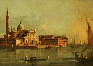 Giacomo Piazzetta - View Of The Island Of San Gior..