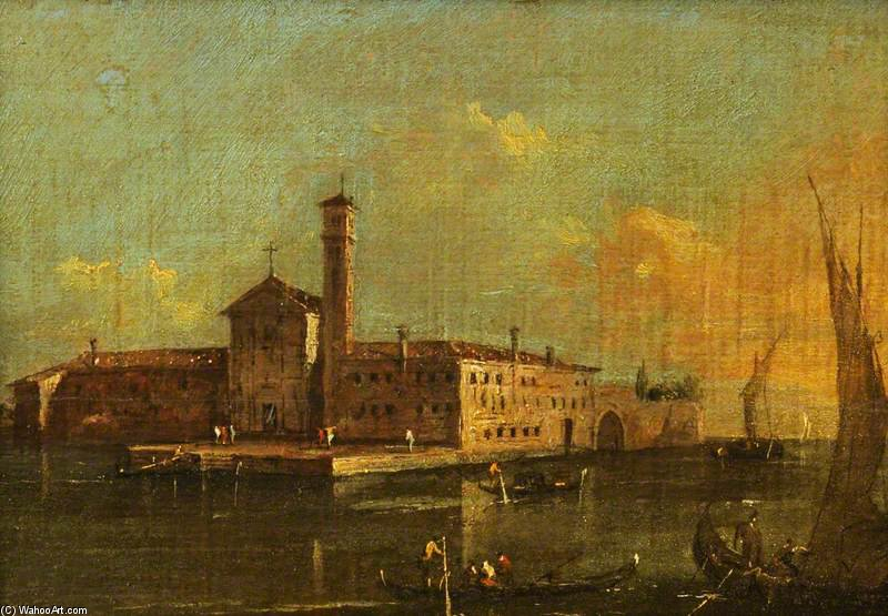 View Of The Island Of San Lazaro, Venice by Giacomo Piazzetta (1640-1705, Italy)