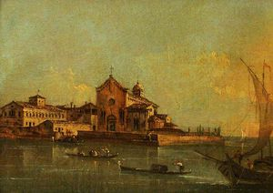 Giacomo Piazzetta - View Of The Island Of Sant-elena, Venice