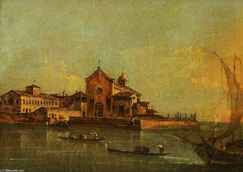 View Of The Island Of Sant'elena, Venice by Giacomo Piazzetta (1640-1705, Italy)