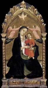 Giovanni Dal Ponte - Madonna And Child With Two Ang..