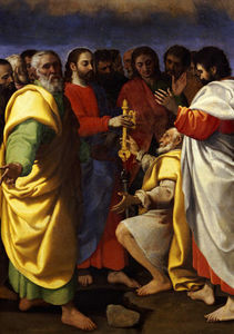 Giuseppe Vermiglio - Christ-s Charge To Saint Peter