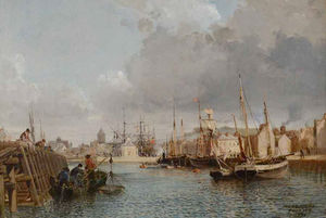 Gortzius Geldorp - Harbor View Of Fecamp