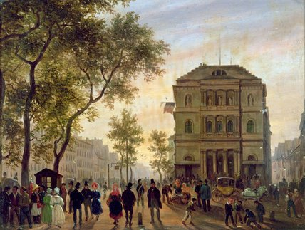 Boulevard Saint-martin And The Theatre De L'ambigu,... by Guiseppe Canella (1788-1847, Italy)
