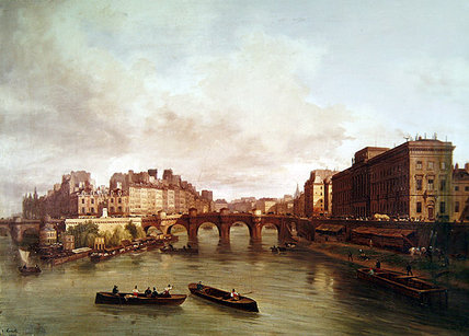 The Pont Neuf, Ile De La Cite, Paris Mint by Guiseppe Canella (1788-1847, Italy) | ArtsDot.com
