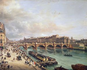 Guiseppe Canella - View Of Pont Neuf,