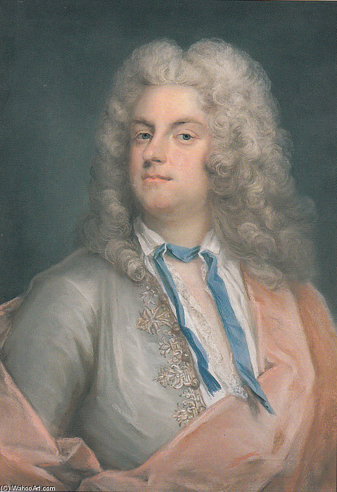 Portrait Of Carl Gustaf Tessin by Gustaf Lundberg (1695-1786, Sweden)