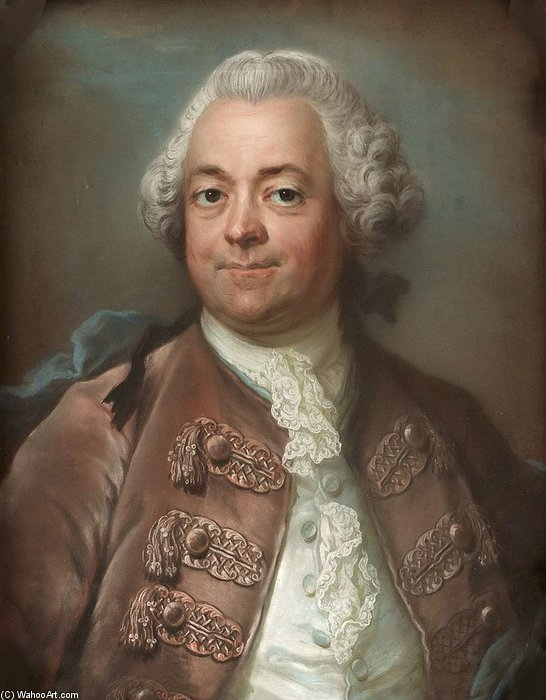 Portrait Of Herman Petersen by Gustaf Lundberg (1695-1786, Sweden)