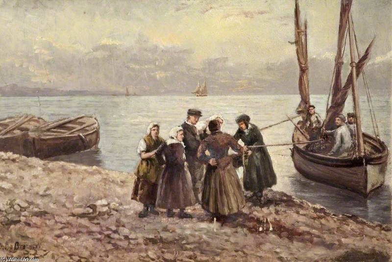 Fisherwomen by Gustave De Breanski (1856-1898, United Kingdom)