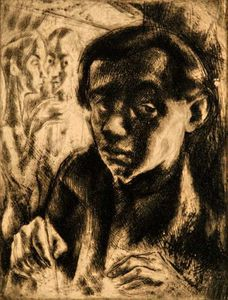 Gyula Hincz - Self-portrait -