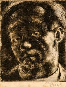 Gyula Hincz - Self-portrait