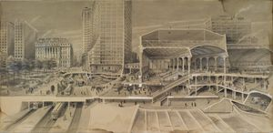 Harry Pettit - Sectional View Showing Traffic..